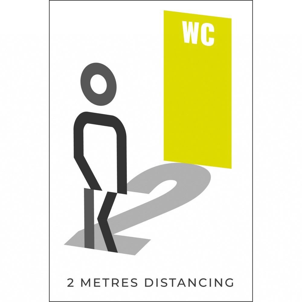 Information sign 2 metres washroom - Lime Green