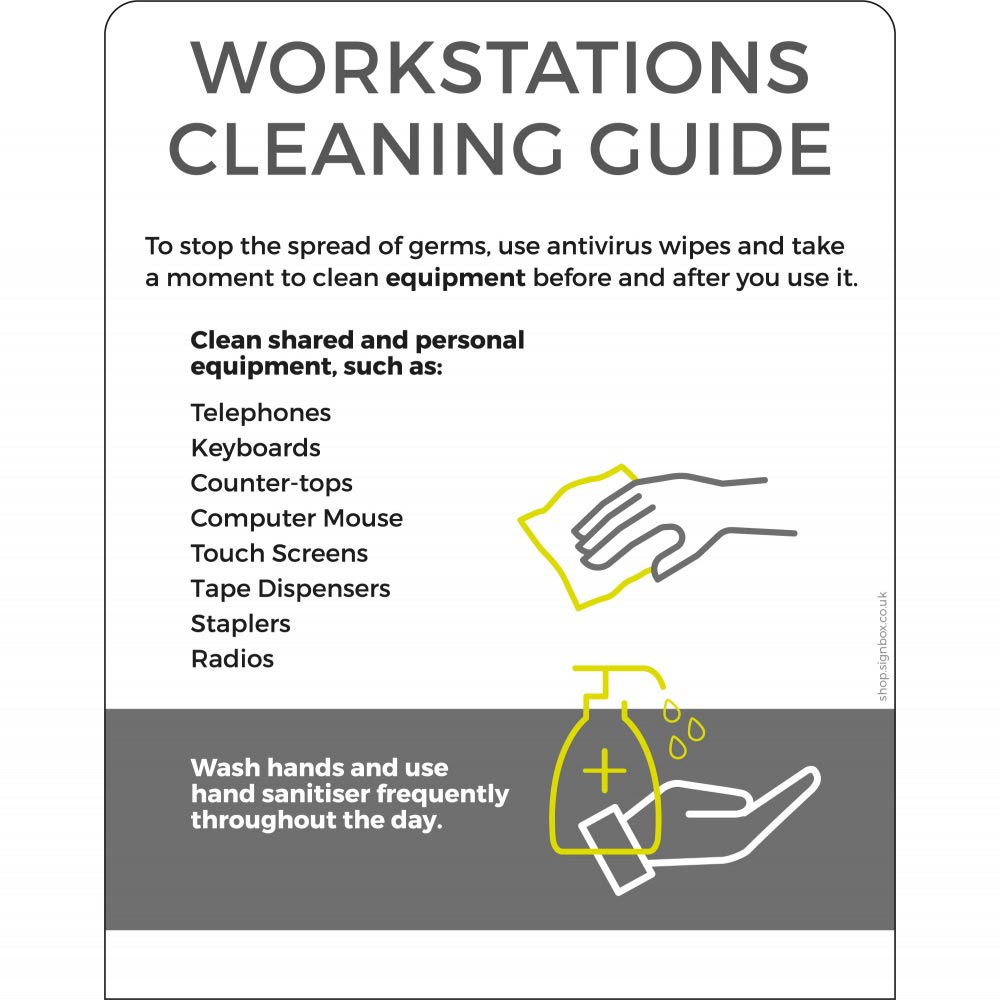 Workstation cleaning guide - White