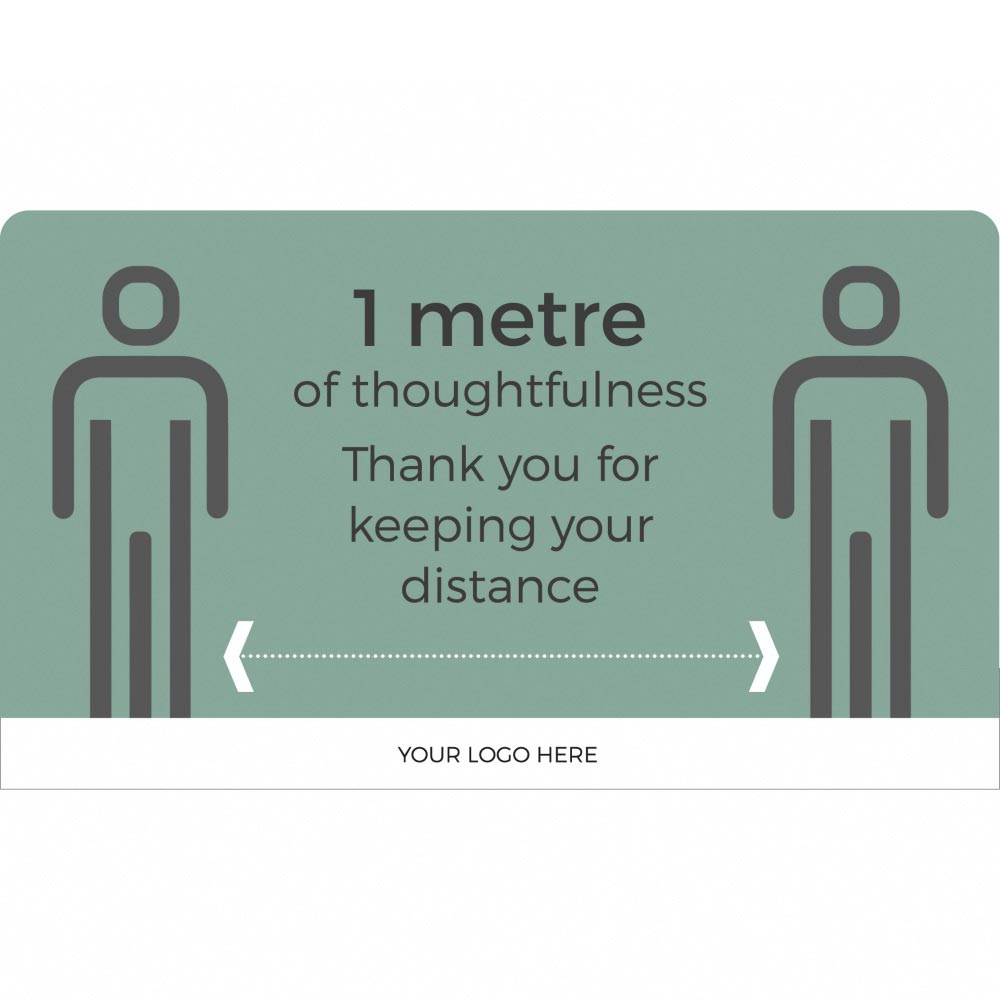 Information sign 1 metre distance- Teal
