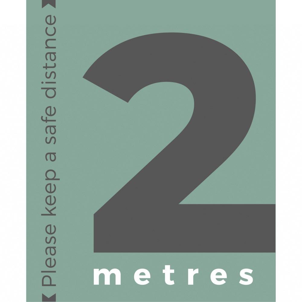 Information sign 2 metres portrait - Teal