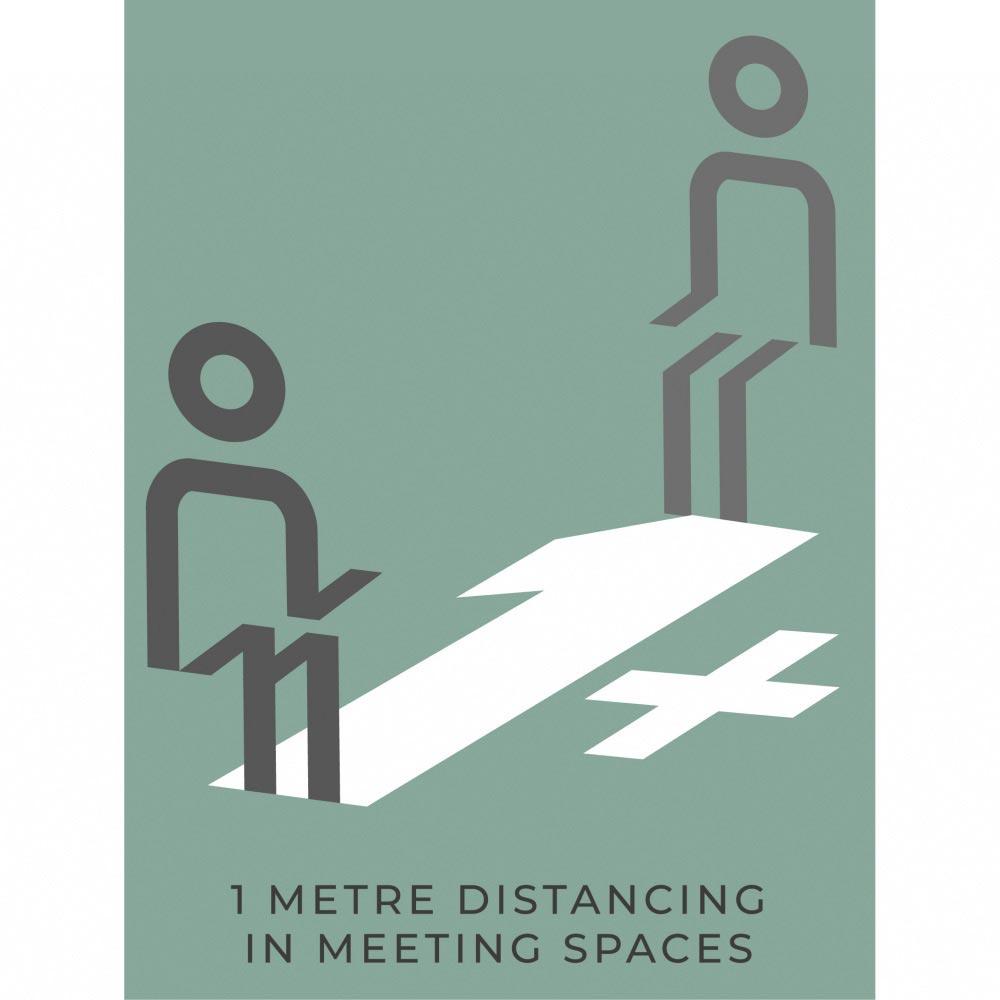 Meeting Room Social Distancing - Teal