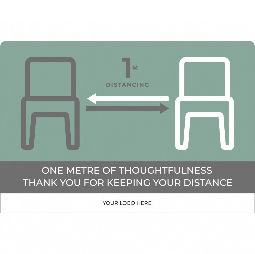Seating social distancing 1m+ - Teal