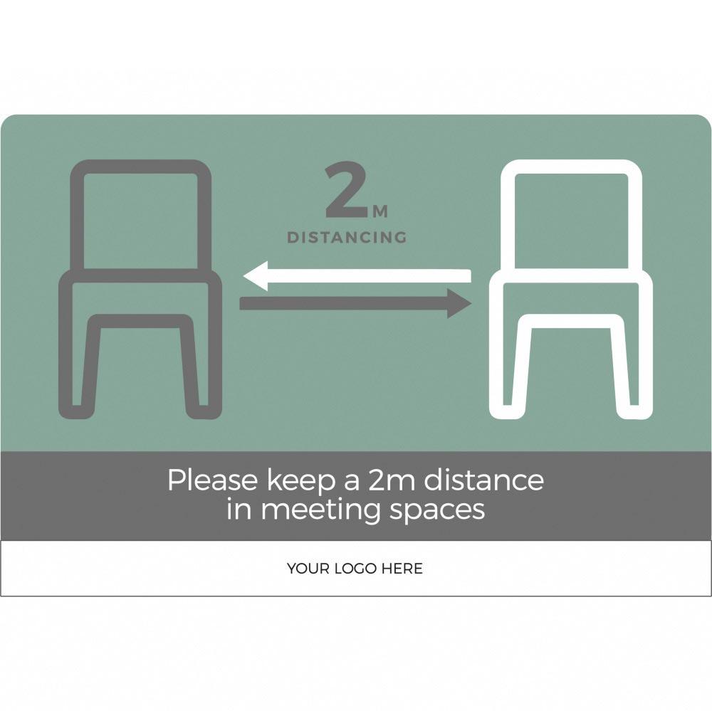 Seating social distancing 2m - Teal