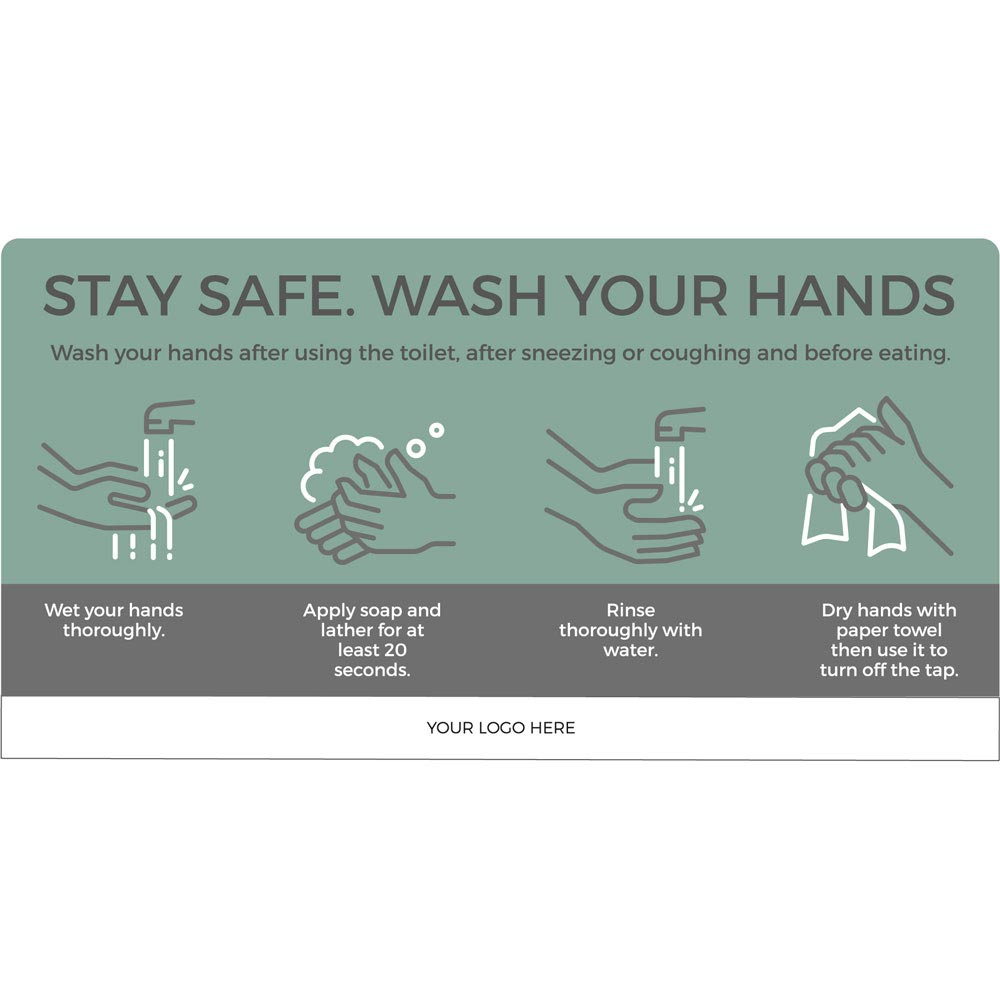 Wash your hands - Teal