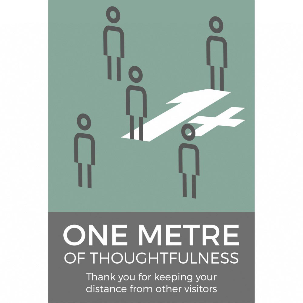 1m+ Thoughtfulness Sign Social Distancing - Teal