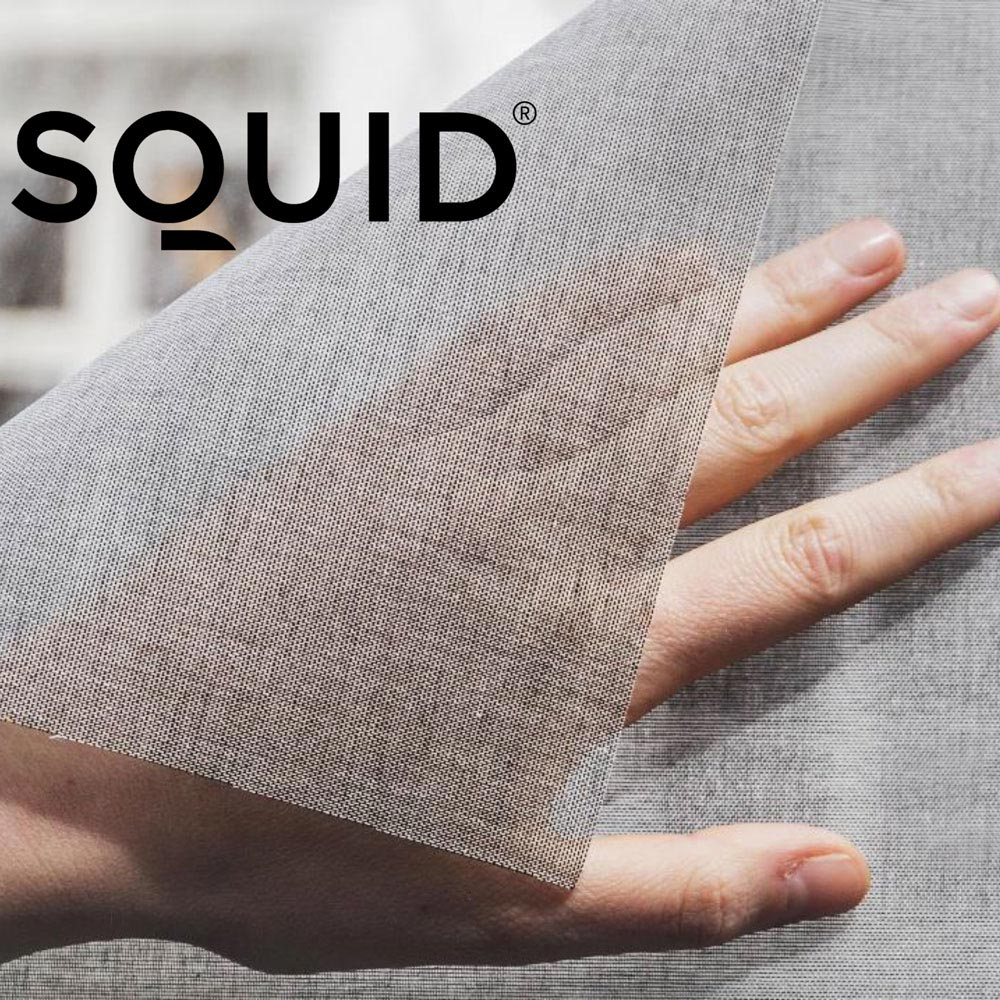 The very first self-adhesive (printable) transparent textile for windows