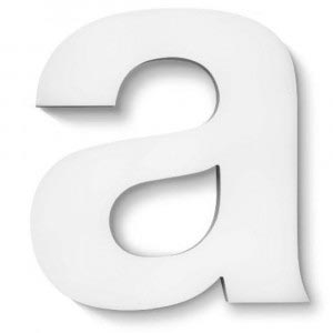 white light brushed aluminium letter