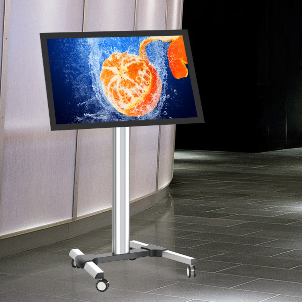Tilting Floor Stand Digital Screen Trolley