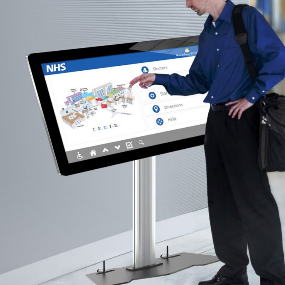 Digital Touch Screen Floor Stand